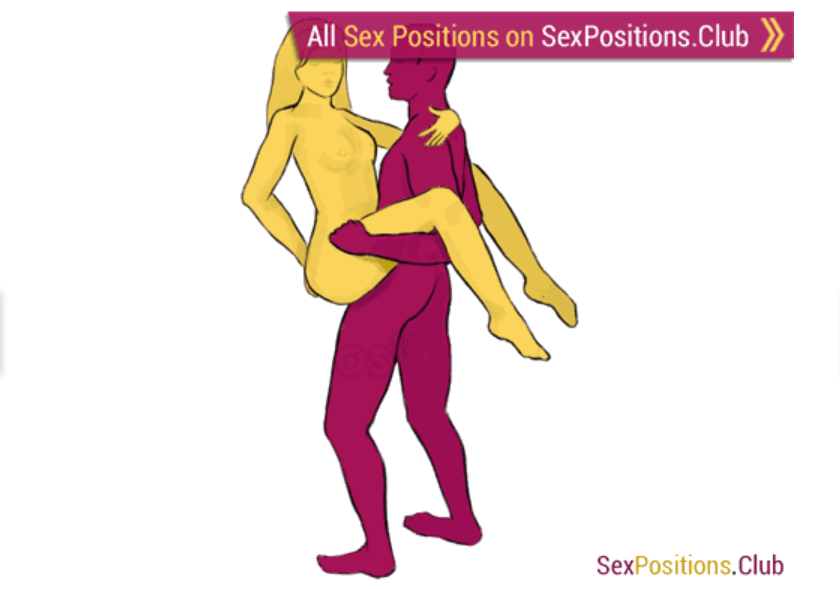 Hand stand sex position