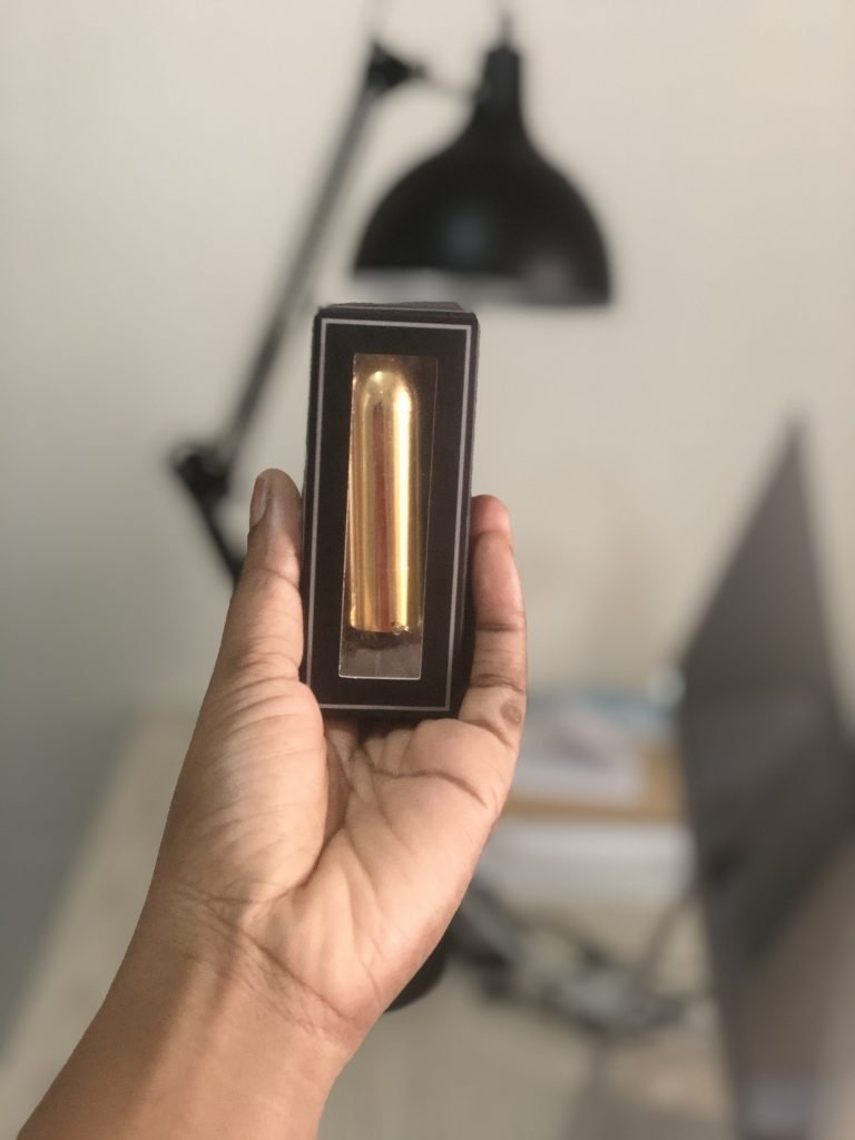 Necklace bullet vibrator has anonymous packaging for a sex toy